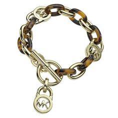 Michael Kors Heritage Link Tortoise Toggle Bracelet - Item 19325992 | REEDS Jewelers