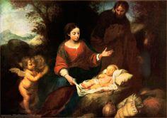 Бартоломе Эстебан Мурильо (1617-1682) Отдых на пути в Египет, 1665. исп.шк, барокко
