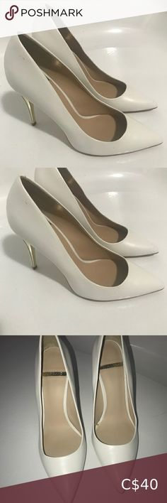 I just added this listing on Poshmark: White Marciano leather heel pumps. #shopmycloset #poshmark #fashion #shopping #style #forsale #Marciano #Shoes Purple Heels, Green Heels, Sparkly Heels, Silver Heels, Black Heels, Nude Pumps, Stiletto Pumps, Black Faux Leather, Black Suede