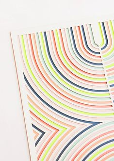 Conduit Neon Geometric Laser Cut Artwork by Molly M Designs Graphic Patterns, Print Patterns, Geometric Graphic Design, Crochet Patterns, Type Illustration, Design Illustrations, Illustrations Posters, Pattern Design, Print Design