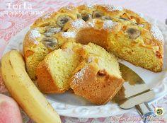 Torta con pesche e banane   Blog Profumi Sapori & Fantasia
