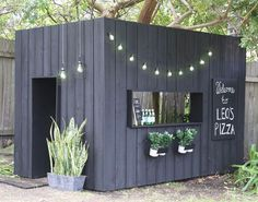 Video of the Day: Make Ronnie and Georgia's beautiful DIY cubby house (With images) Kids Cubby Houses, Kids Cubbies, Play Houses, Diy Garage Door, Diy Door, Backyard For Kids, Backyard Projects, Gif Of The Day, House Design