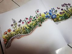 under progress... #johannabasford  #secretgardencolouringbook #enchantedforest…