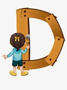 wooden d