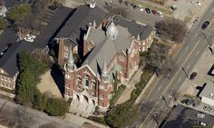 Sacred Heart Cultural Center, formerly a catholic church, has been an icon on the Augusta cityscape for many years.  The building (c. 1897) is hosts many cultural activities and can be used for weddings, exhibits, and holiday events.  http://www.sacredheartaugusta.org/ All aerial photographs derived from oblique orthophotography by Pictometery International.  www.pictometry.com
