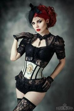 Model: Elisanth Photo: Silver Pearl Photography Jewelry: Alchemy Gothic/Corset: FORGE Top: The Gothic Shop Hat: Jazzafine. pieces full of verve Welcom. Moda Steampunk, Gothic Steampunk, Steampunk Fashion, Gothic Fashion, Fashion Beauty, Womens Fashion, Fashion Tips, Style Fashion, Victorian Gothic