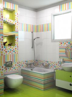 Kid bathroom decor, childrens bathroom, bathroom for kids, bathroom color. Kids Bathroom Paint, Kid Bathroom Decor, Childrens Bathroom, Budget Bathroom, Bathroom Colors, Colorful Bathroom, Bath Decor, Kid Bathrooms, Bathroom Small