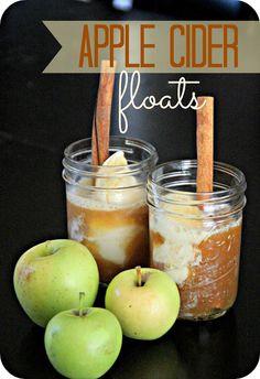 Fresh Apple Cider Floats by ptskjohnson #Apple_Cider