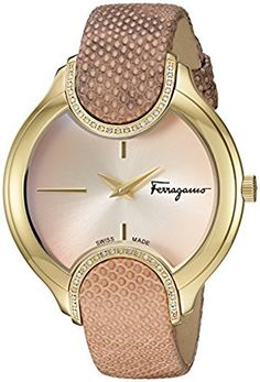 Salvatore Ferragamo Women's 'Signature' Quartz Stainless Steel and Leather Casual Watch, Color:Pink (Model: FIZ050015)