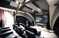 How much do you love Star Wars? We don't ask this as an idle question. Do you really love Star Wars? Do you love it enough to, oh, we don't know, completely remodel a room in your house to resemble a spaceship from the franchise?