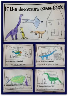 If the Dinosaurs came back writing activity.  This unit has tons of fun activities with the dinosaur theme.
