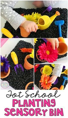 School: Spring This Planting Sensory Bin is perfect for spring in tot school, preschool, or the kindergarten classroom.This Planting Sensory Bin is perfect for spring in tot school, preschool, or the kindergarten classroom. Spring Activities, Sensory Activities, Classroom Activities, Preschool Activities, Sensory Play, Spring Preschool Theme, Toddler Sensory Bins, Spring Theme, Motor Activities