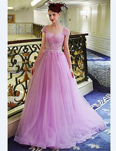 Formal Evening Dress - Lavender A-line Sweetheart Floor-length Tulle 4808436 2016 – $99.99