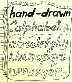 Black vector doodle alphabet #collection