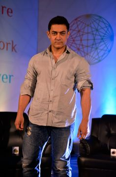 Aamir Khan at the Young Inspirators Network launch in Mumbai. #Bollywood #Fashion #Style #Handsome