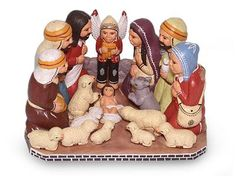 Ceramic nativity scene, 'Christmas Love'. Shop from #UNICEFMarket and help save the lives of children around the world.