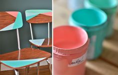 sillas de formica restauradas