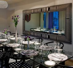 Сервированный стол роскошного отеля Missoni в Шотландии