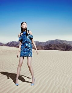 Shiyu Liao in Chanel Haute Couture, photographed by Justin Cooper for Harper's Bazaar Hong Kong June 2012.