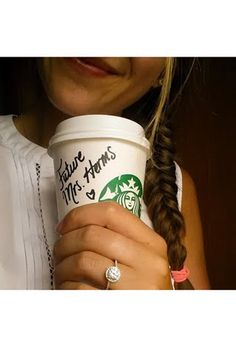 This would be a cute way for him to pop the question (coffee cup)