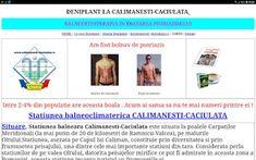 PSORIAZIS-CORESPONDENTA  DENIPLANT: Tratament pentru psoriazis la Calimanești Caciulat...