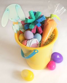 """I hinted about this post last week, so here it is – C's """"Creative Play Easter Basket"""". I had 3 goals for this basket:  No candy allowed Absolutely every part of the basket has to be usable for play Inexpensive to make (and by that I mean CHEAP!) Thanks to a lot of clever …"""