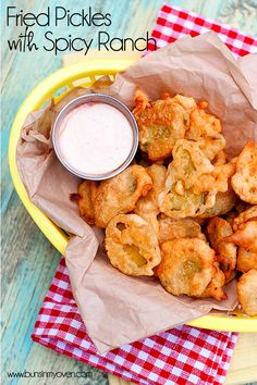 Homemade Fried Pickles with Spicy Ranch