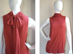 DELETTA ANTHROPOLOGIE TOTALLY FEMME!!! ~~PRETTY CAREER GIRL~~ TIE BACK BOW TOP M #Deletta #Tunic #CareerCasualDressy