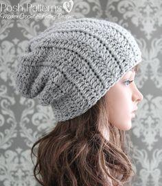 Crochet PATTERN - Beginner Crochet Slouchy Hat Pattern