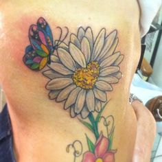 701e9c3a2 Daisy Tattoos and Designs  Page 126 Butterfly Tattoos, Daisy, Daisies