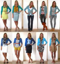 J's Everyday Fashion- different ways to wear cardigans
