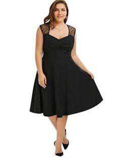 Vintage A-line Swing Dress  plussize  plussizefashion  crafteastiq Day  Dresses 1d72471c1990