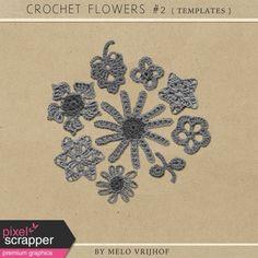 Crochet Flowers No.2 - Templates