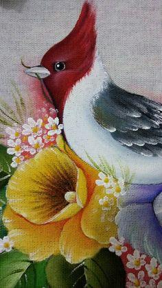 Bird Painting Acrylic, Peacock Painting, Fabric Painting, Acrylic Painting Techniques, Watercolor Paintings, Bird Drawings, Colorful Drawings, Cute Drawings, Fabric Paint Designs