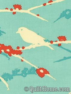 Red and Teal ... plus birds... <3  (Sparrows - Aqua, Aviary 2 - Joel Dewberry)