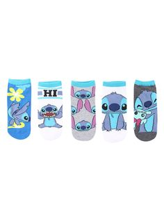 Disney Lilo & Stitch character no-Show socks 5 pair from Hot Topic