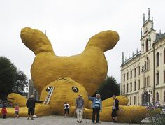 {The Big Yellow Rabbit} via 2011, Sweden - now that's a very large bunny!