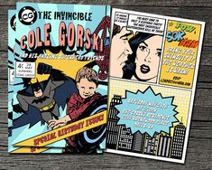 Comic Book Invitation by theblueeggevents on Etsy, $22.00
