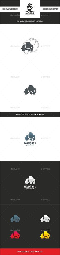 Elephant Logo - Animals Logo Templates                                                                                                                                                                                 Más