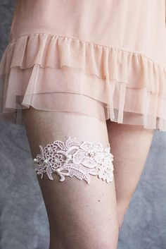 lace sewn to thigh highs