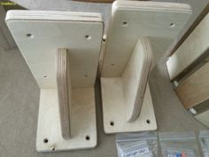 Wall brackets for cat bridge 30 EUR each. Gold Paw - Designer Natural cat trees and cat room