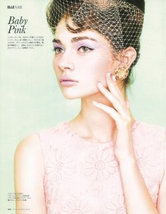 Baby Pink: Antonina Vasylchenko for Elle Japan March 2014