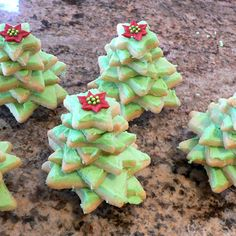 Christmas Cookie Christmas Trees.