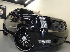 Custom SUV with 28 Rims | 2007 Cadillac Escalade Ext Base, Black In San Diego, California