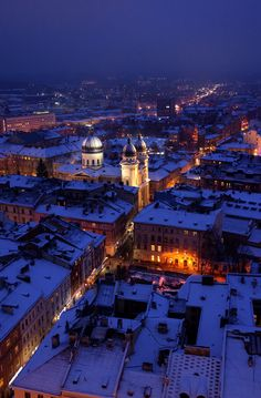 December in Lviv, Ukraine