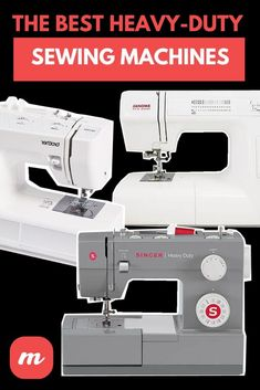 When it comes to sewing leather, upholstery, denim, and other thicker materials, a heavy-duty sewing machine is what you need. But industrial machines aren't cheap, and some work better than others. It's important to look at the reviews and decide for yourself, or you can check out this detailed overview of the best heavy-duty sewing machines for home use.  #DIY  #sewing Sewing Lessons, Sewing Hacks, Sewing Tips, Sewing Machine Repair, Sewing Machine Reviews, Janome Hd1000, Quilting Projects, Sewing Projects, Make Your Own Blanket