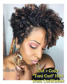 Kinky Curly Hair From CurlKalon The Toni Curl is the smallest and coiliest curl in the Curlkalon Hair Collection. Natural Afro Hairstyles, Curled Hairstyles, Weave Hairstyles, Damp Hair Styles, Medium Hair Styles, Natural Hair Styles, Kinky Curly Hair, Synthetic Hair, Textured Hair