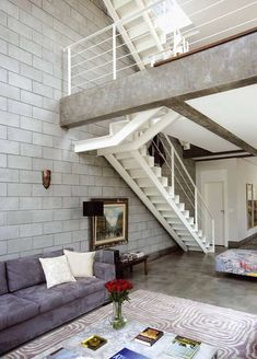 Architecture – Enjoy the Great Outdoors! Modern Interior Design, Interior Architecture, Loft Stil, Concrete Houses, Minimal Home, House Stairs, Loft Spaces, Simple House, House Plans