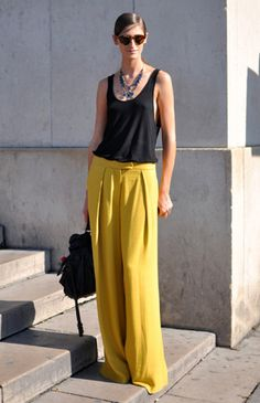 Classic wide leg pants. Love them in a bright color. #newyearstylechallenge