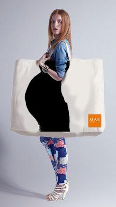 Bolsa interactiva para tienda de ropa de embarazadas